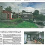 Bergens Tidende om Kari Hjertholms atelier: 'Tett på lyset', 2013