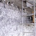 Fra atelier 1999, arbeid med Understrøm, foto Magne Turøy for Bergensavisen